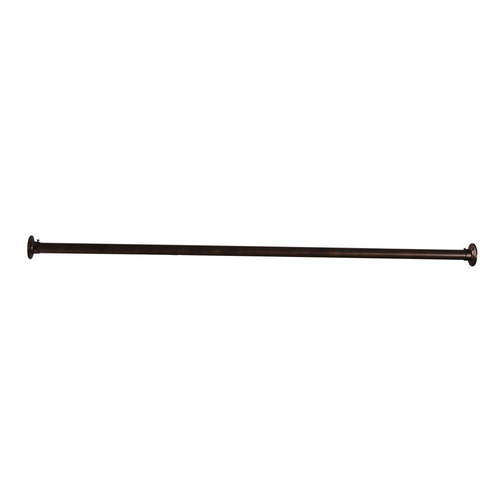 48 in. Straight Shower Rod in Oil Rubbed Bronze