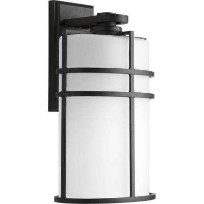 Format Collection 1-Light Large Black 16 in. Outdoor Wall Lantern