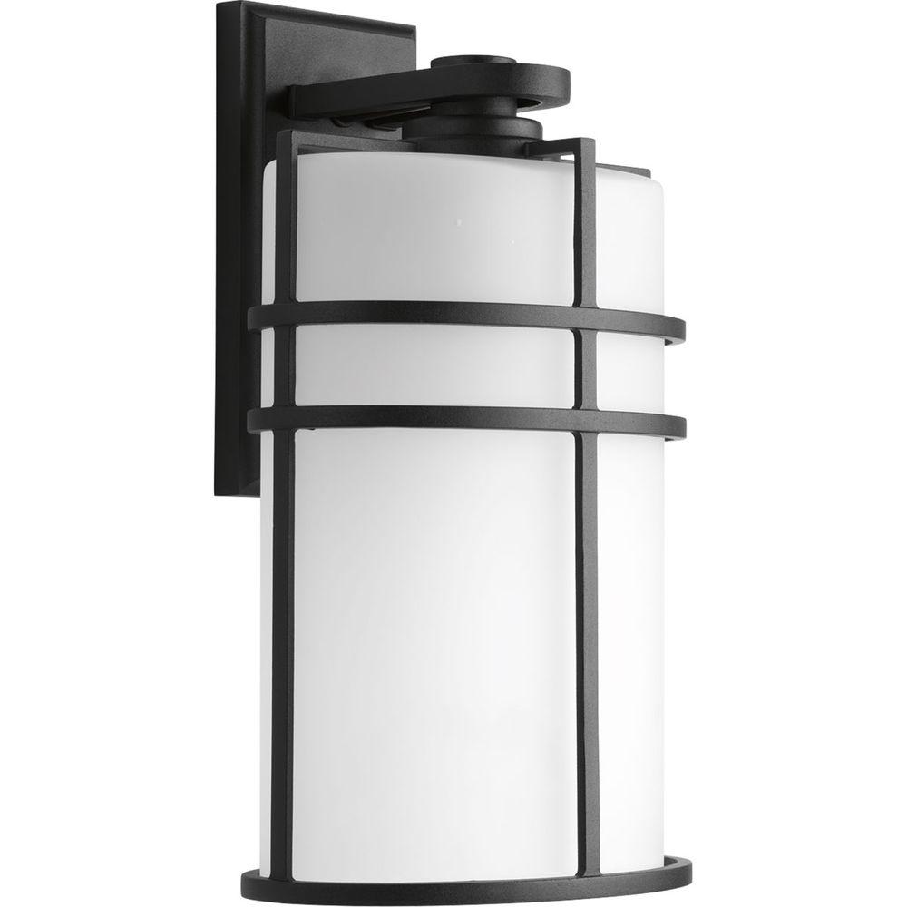 Progress Lighting Format Collection 1-Light Black 16 in. Outdoor Wall Lantern Sconce