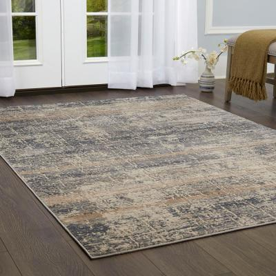 Kenmare Saffron Gray/Beige 7 ft. 10 in. x 10 ft. 2 in. Indoor Area Rug