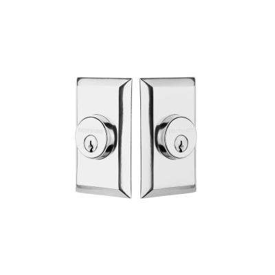 Studio Plate 2-3/8 in. Backset Double Cylinder Deadbolt in Bright Chrome