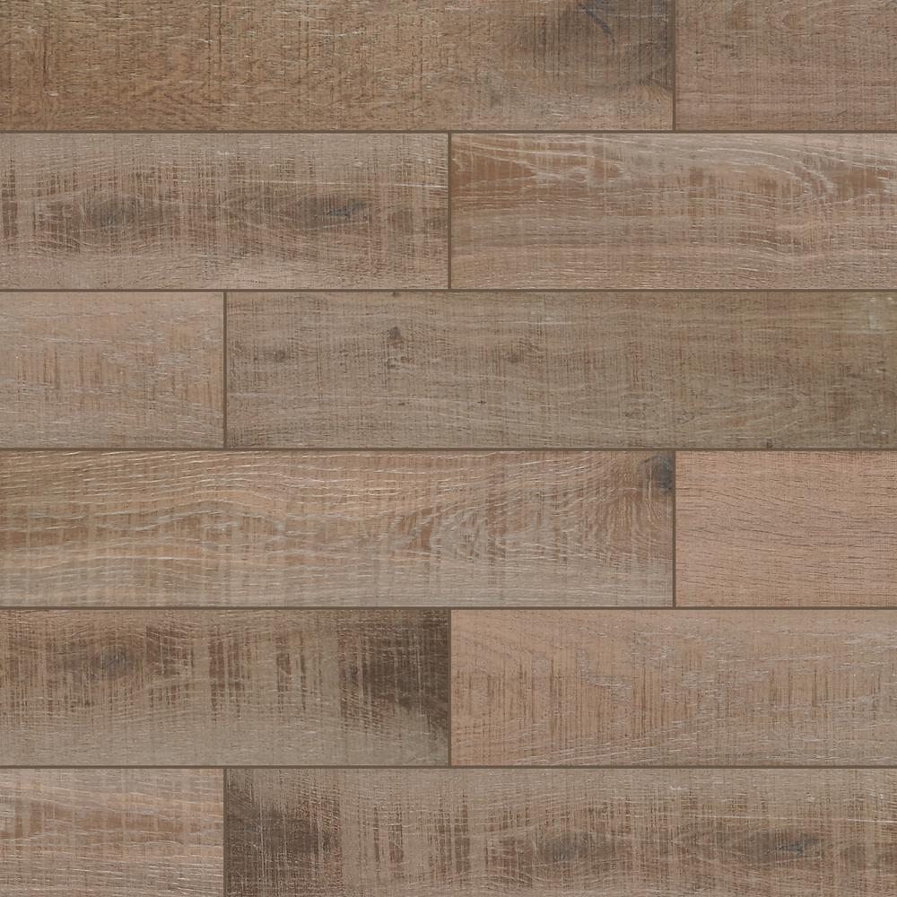 Bentonwood Cocoa 6 in. x 26 in. Ceramic Floor and Wall Tile (16.65 sq. ft. / case)