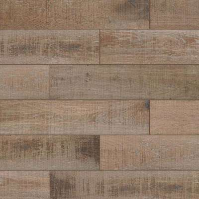 Bentonwood Cocoa 6 in. x 26 in. Ceramic Floor and Wall Tile (357.14 sq. ft. / pallet)