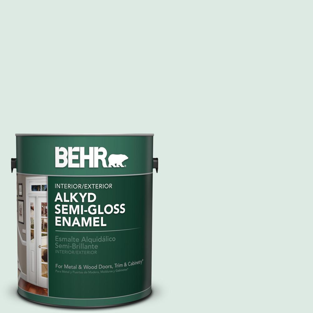 1 gal. #M430-1 Snowbound Semi-Gloss Enamel Alkyd Interior/Exterior Paint
