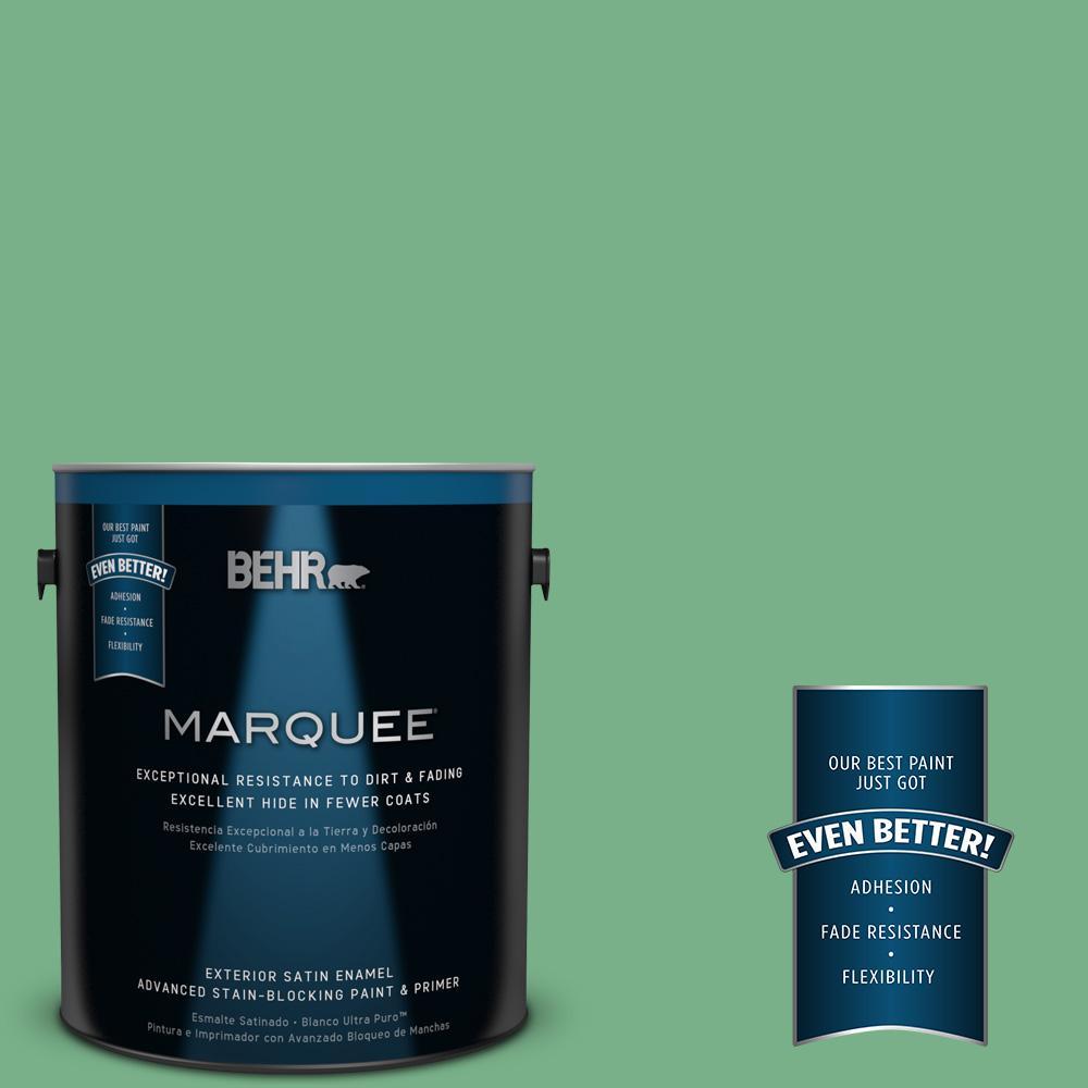 1-gal. #M410-5 Green Bank Satin Enamel Exterior Paint