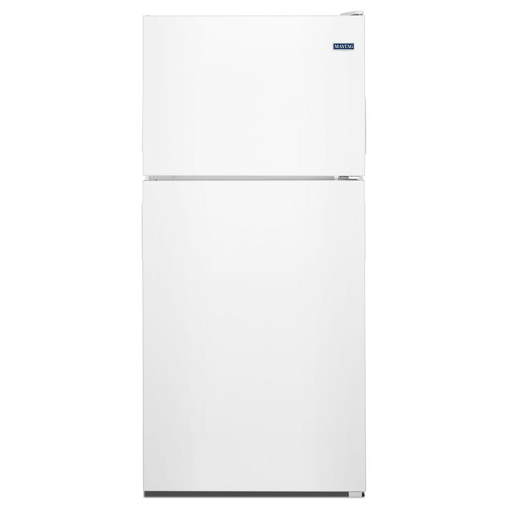 Maytag 33 In W 21 Cu Ft Top Freezer Refrigerator In