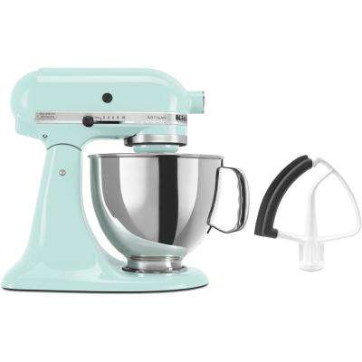 Artisan Series 325-Watt Tilt-Back Head  Ice Blue Stand Mixer and Flex Edge Beater