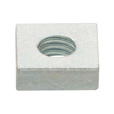 #10-32 Zinc-Plated Fine Thread Square Nuts (5-Pieces)