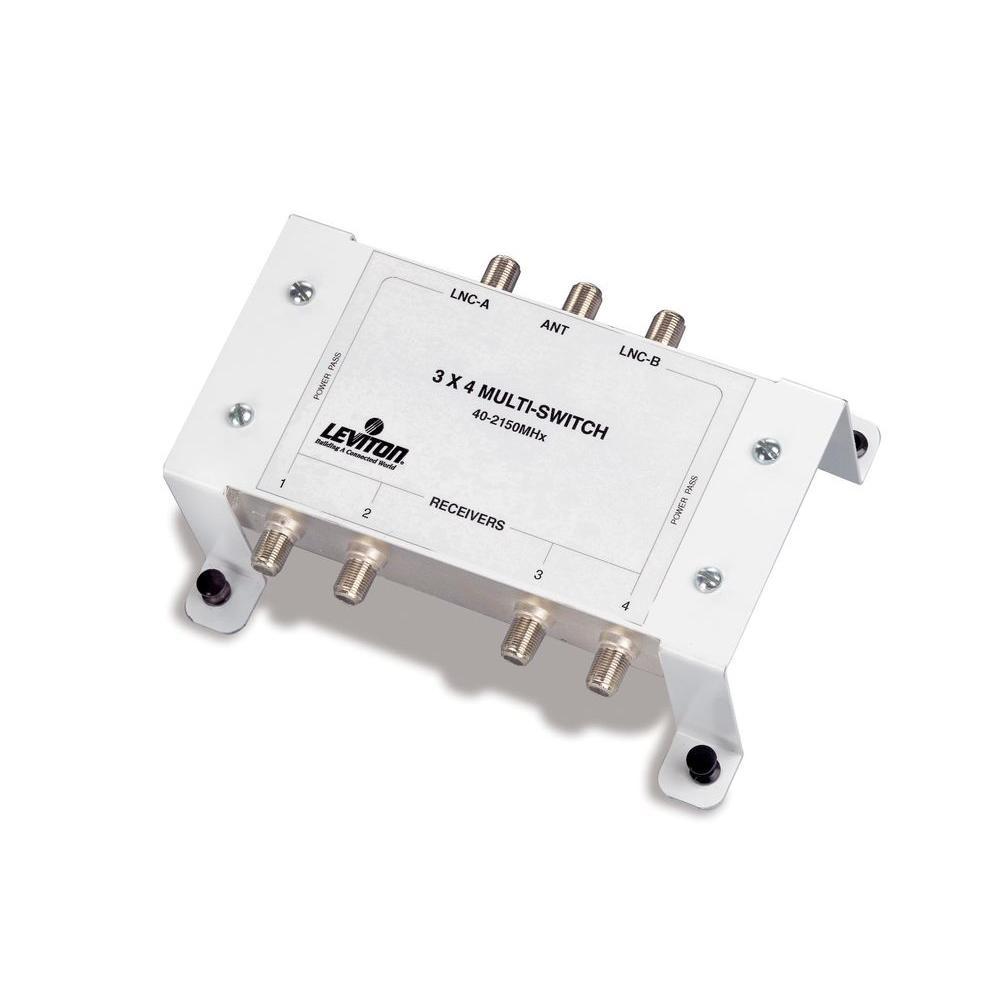 Leviton Structured Media 3x4 Satellite Multi-Switch