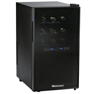 Click here to buy Wine Enthusiast 18-Bottle Dual Zone Silent Touchscreen Wine Cooler by Wine Enthusiast.