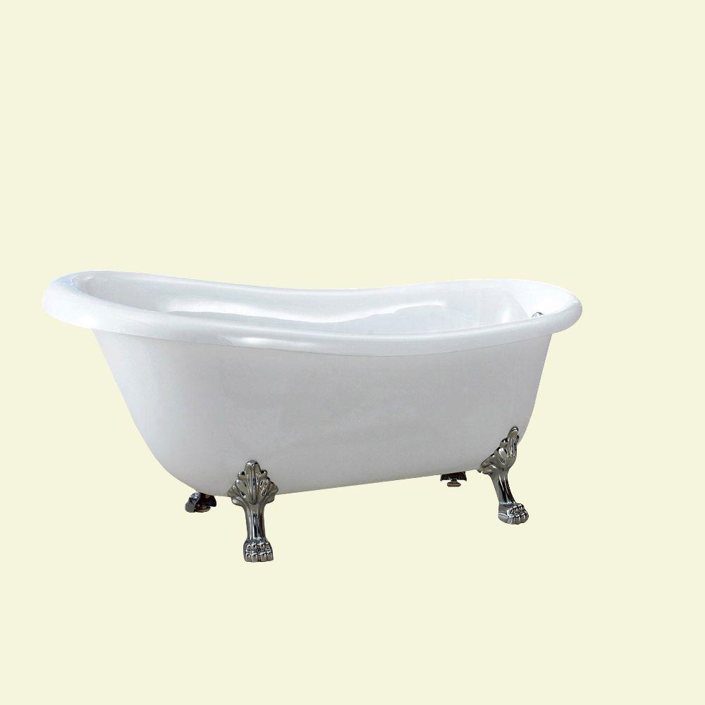 acrylic clawfoot tub package. Acrylic Clawfoot Non Whirlpool Bathtub In White Dreamwerks 5 Ft