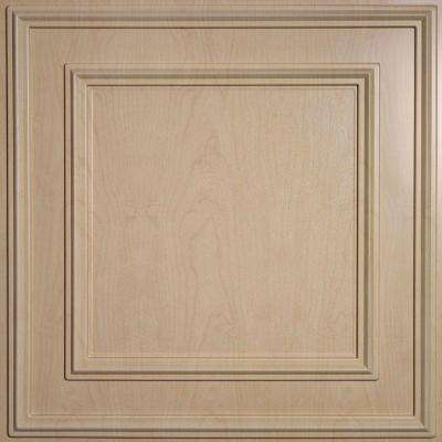 Cambridge Faux Wood-Sandal 2 ft. x 2 ft. Lay-in or Glue-up Ceiling Panel (Case of 6)