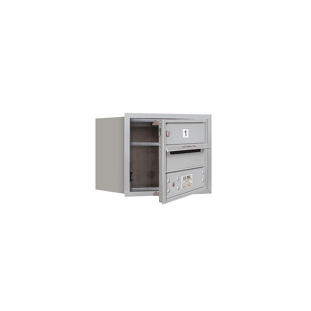 3700 Series 13 in. 3 Door High Unit Aluminum USPS Front