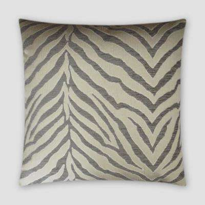 Pumba Silver Feather Down 18 in. x 18 in. Standard Decorative Throw Pillow