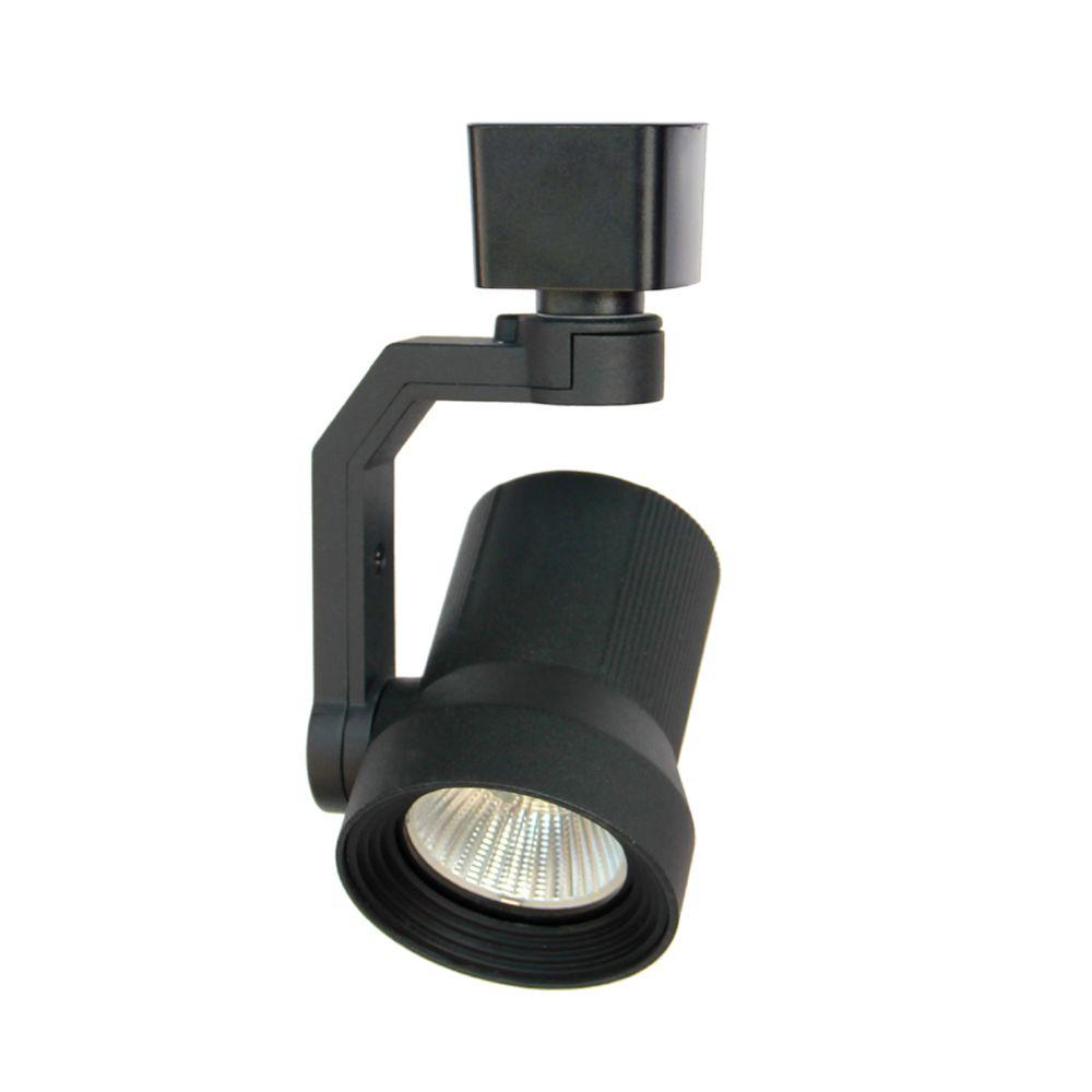 Hampton Bay 1 Light Black Led Track Lighting Head