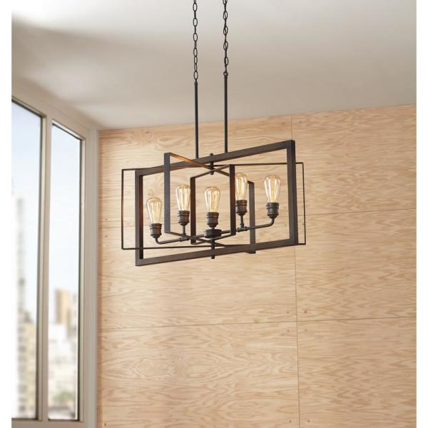 Gilded Iron Linear Chandelier 7922hdc