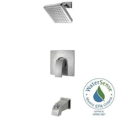Kenzo Single-Handle Tub and Shower Faucet Trim Kit in Brushed Nickel (Valve Not Included)