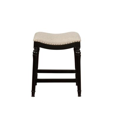Collins 24 in. Black Counter Stool