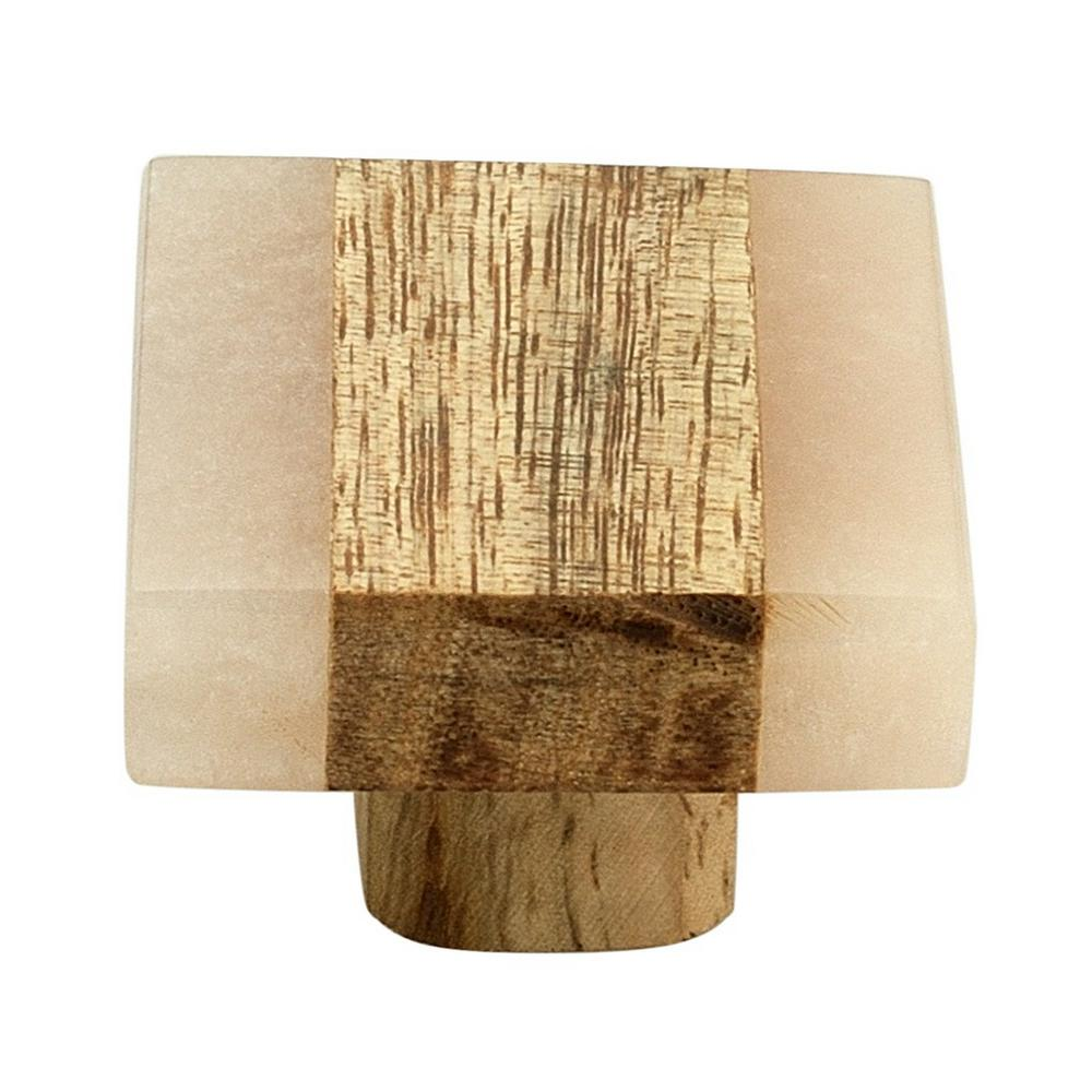 Mascot Hardware Frosted Timber 1-3/10 in. (33 mm) Peach and Light Brown Cabinet Knob