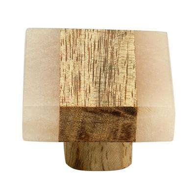 Frosted Timber 1-3/10 in. (33 mm) Peach and Light Brown Cabinet Knob