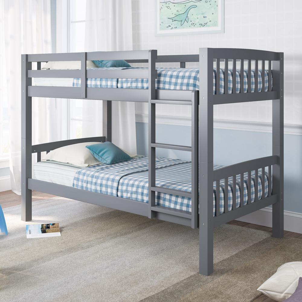 Grey Twin Single Bunk Bed Dakota Bed