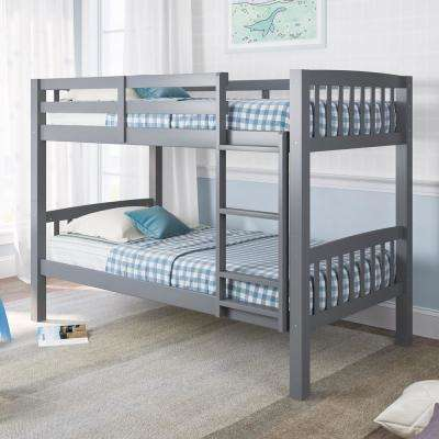 Dakota Grey Twin/Single Bunk Bed