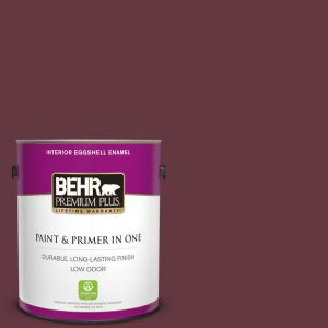 Behr Premium Plus 1 Gal Mq1 14 Twinberry Eggshell Enamel Low Odor Interior Paint And Primer In One 230001 The Home Depot