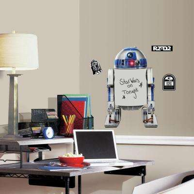 5 in. W x 19 in. H Star Wars Classic R2-D2 Dry Erase 4-Piece Peel and Stick Giant Wall Decal