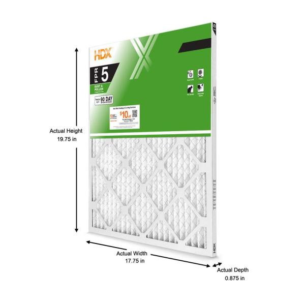 Hdx 18 X 20 X 1 Standard Pleated Air Filter Fpr 5 Hdx1p5 011820 The Home Depot