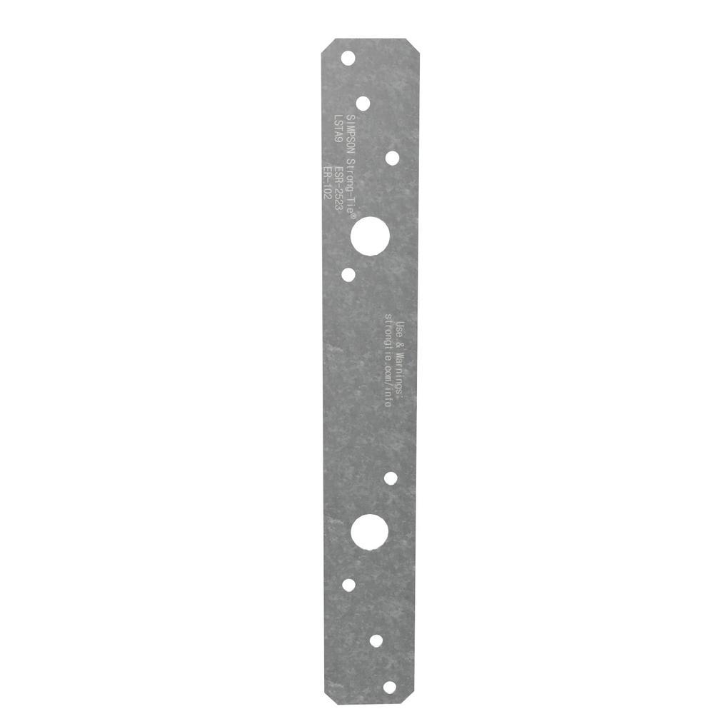 LSTA 1-1/4 in. x 9 in. 20-Gauge Galvanized Strap Tie