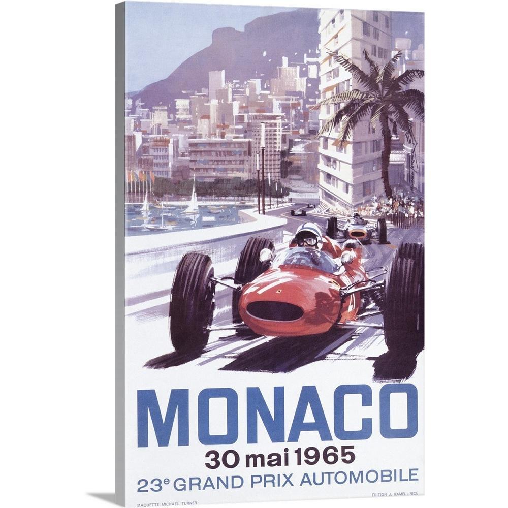 Monza Grand Prix Vintage Style Formula Race Car Poster 20x30