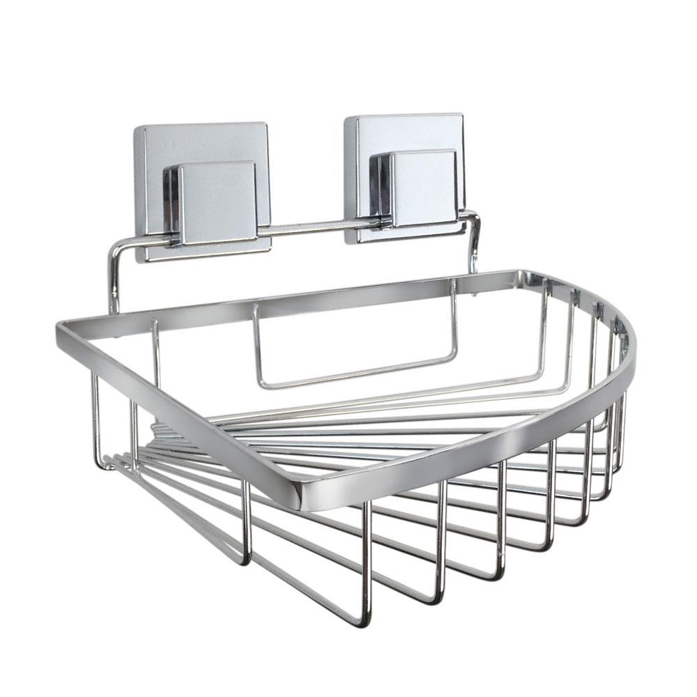 Corner Basket in Chrome