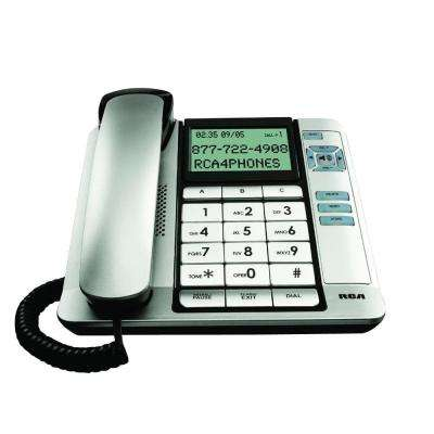 Corded Office Telephone - Black/Silver