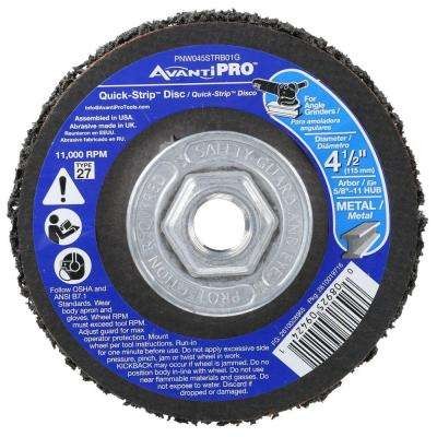 4-1/2 in. x 5/8 in. -11 in. Non-Woven Quick-Strip Disc