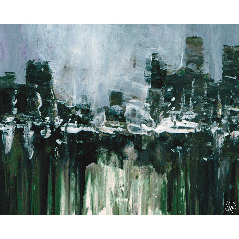 11 in. x 14 in. Kasama Abstract Cityscape Wrapped Canvas Wall