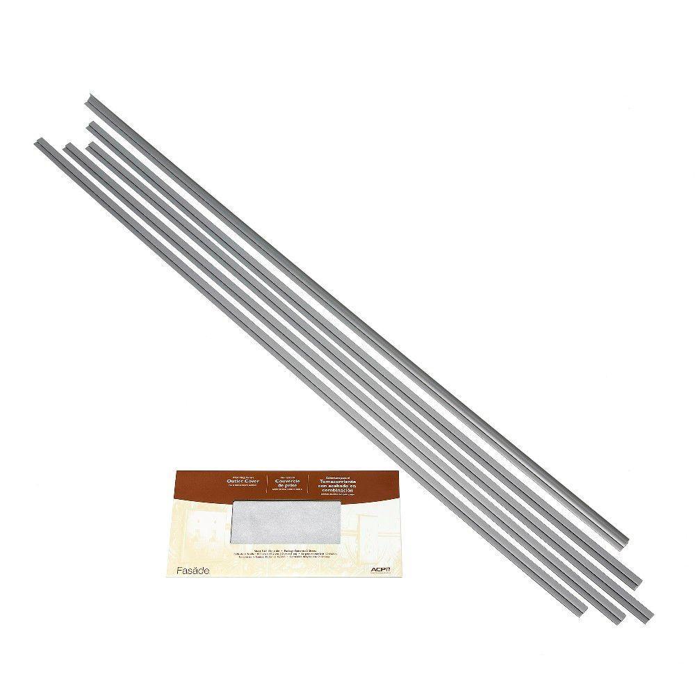 Large Profile Backsplash Accessory Kit in Argent Silver