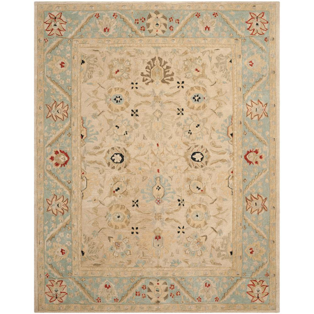 Safavieh Wyndham Turquoise Green 8 Ft X 10 Ft Area Rug: Safavieh Anatolia Natural/Soft Turquoise 8 Ft. X 10 Ft
