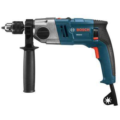 8.5 Amp Corded 1/2 in. 2-Speed Variable Speed Hammer Drill with Auxiliary Handle and Depth Gauge