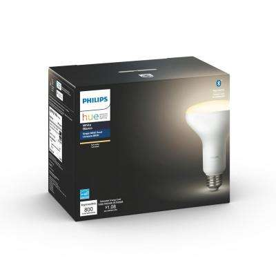 White BR30 LED 65W Equivalent Dimmable Smart Wireless Flood Light Bulb with Bluetooth