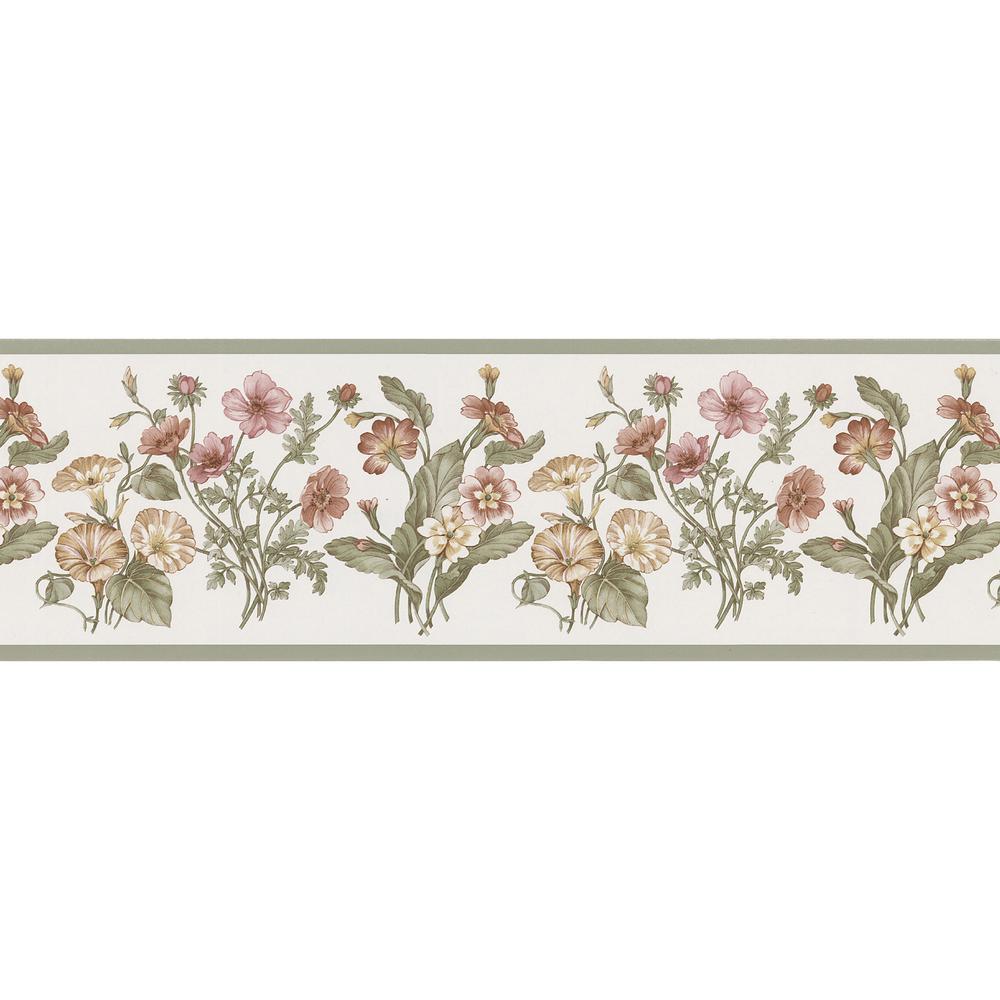 Brewster Garden Bouquet Wallpaper Border 499b59776 The