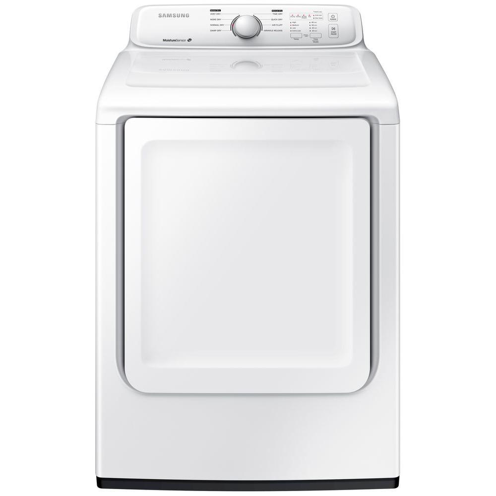 7.2 cu. ft. Gas Dryer in White