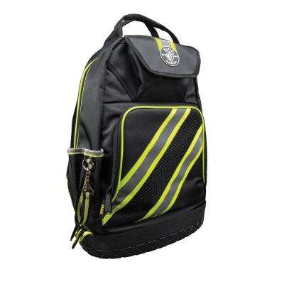 Tradesman Pro 14-3/8 in. High-Visibility Tool Bag Backpack, Black and Gray