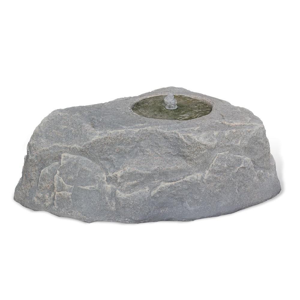 Dekorra 35 in. L x 25 in. W x 12 in. Medium Plastic Water Feature Gray