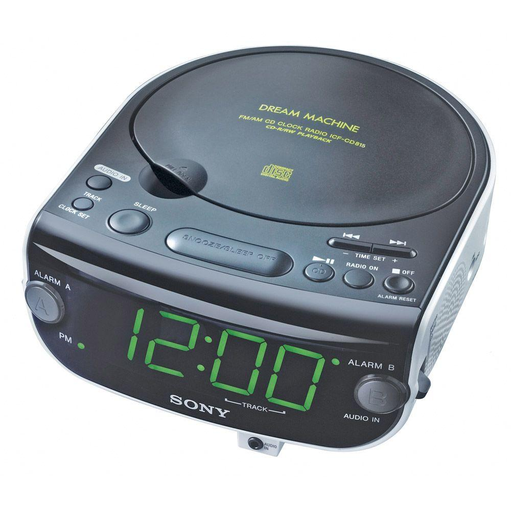 SONY Dual Alarm Clock AM/FM/MP3 Radio with CD Player-DISCONTINUED