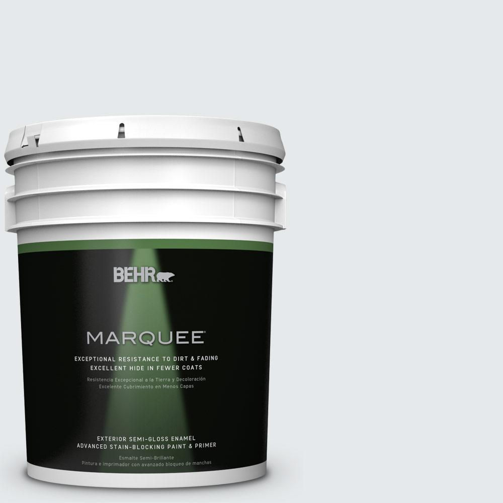 BEHR MARQUEE 5-gal. #PR-W10 Swirling Water Semi-Gloss Enamel Exterior Paint