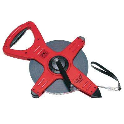 300 ft. Pro-Series Zip-Line Nylon-Clad Steel Open Reel Tape Measure