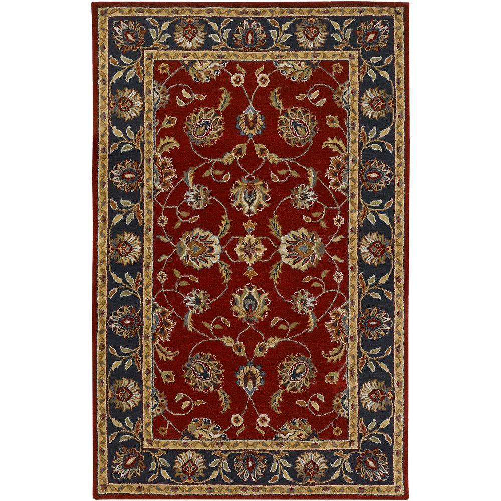 Artistic Weavers Tuscan Red 7 ft. 9 in. x 9 ft. 9 in. Area Rug-DISCONTINUED