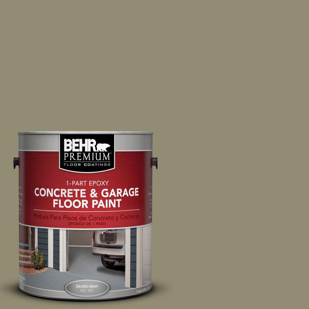 BEHR Premium 1 gal. #PFC-34 Woven Willow 1-Part Epoxy Concrete and Garage Floor Paint