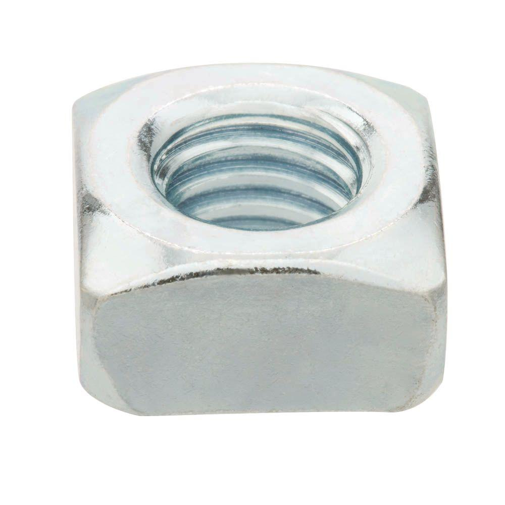 3/8 in.-16 Zinc-Plated Coarse Thread Square Nuts (2-Pieces)
