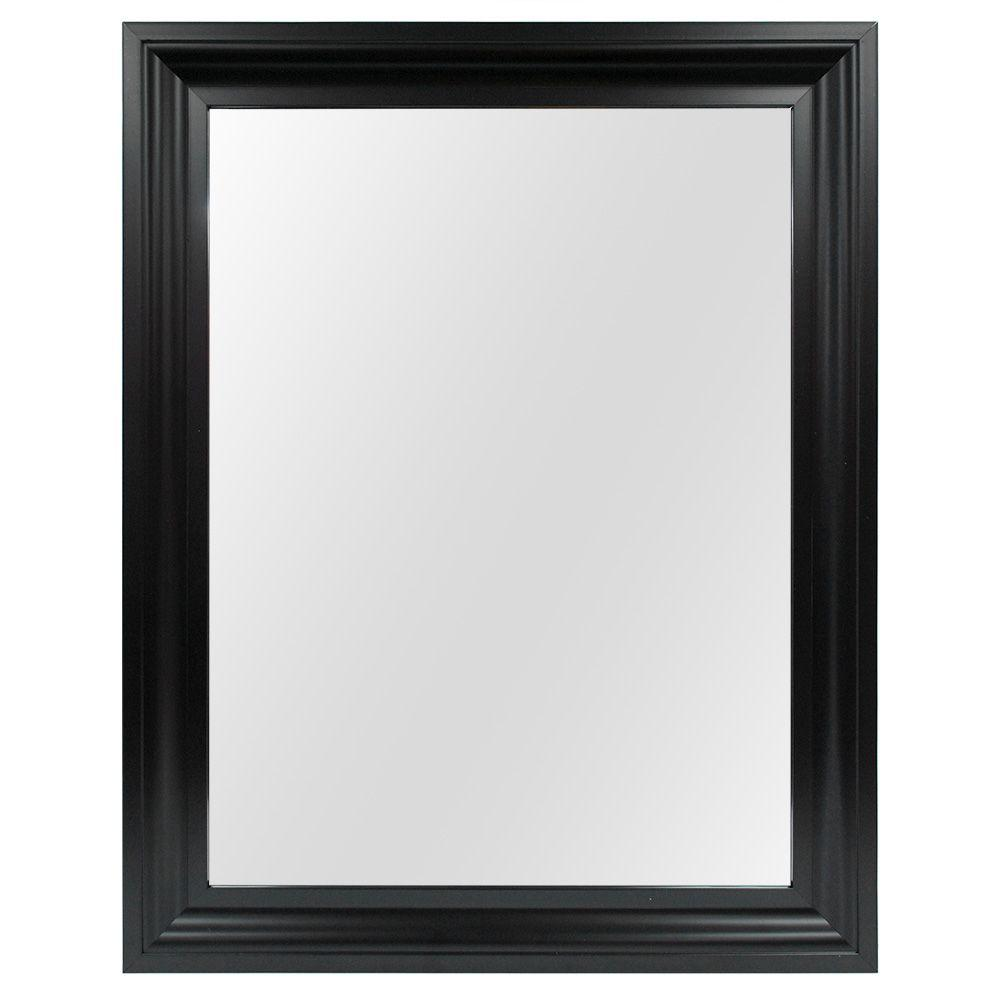 Home Decorators Collection 22 in. W x 29 in. L Framed Fog Free Wall Mirror in Black